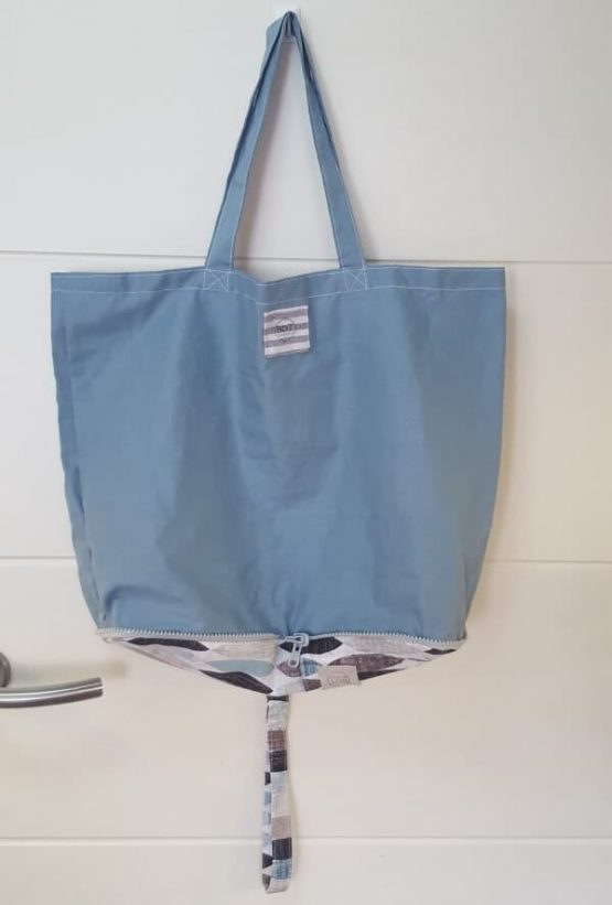 Bolsa de tela en azul claro