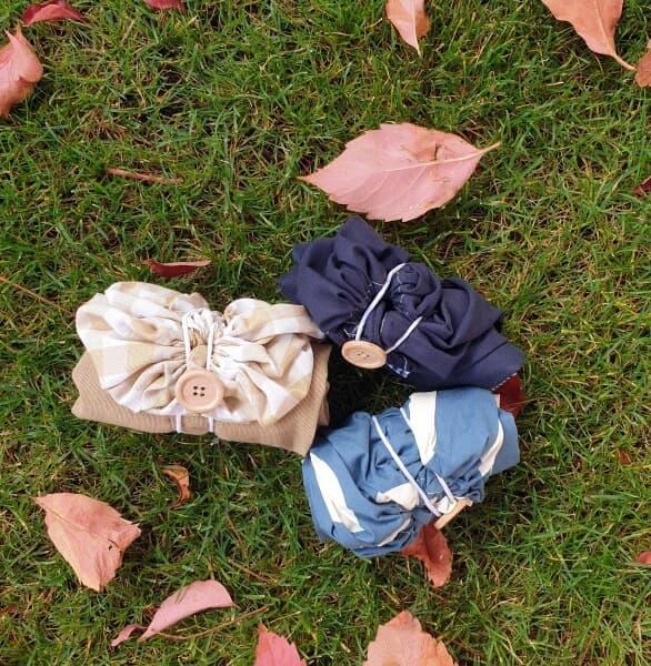 Mini bolsas para la compra de tela. Ecológicas.