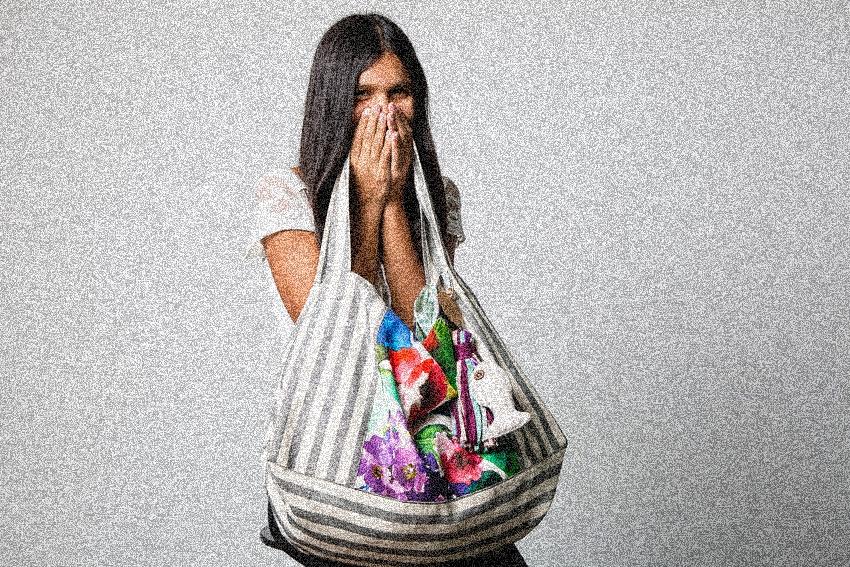 Bolsos hechos a mano de tela
