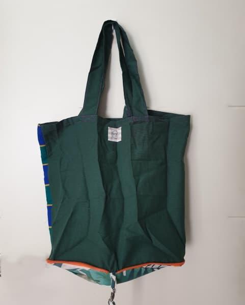 Bolsa para la compra de tela en color verde