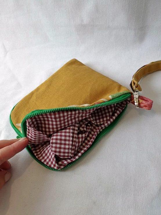 Bolsa para el pan se cierra con cremallera verde