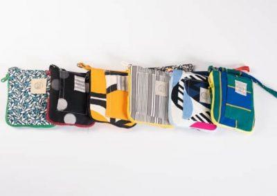 Bolsas de colores en tela