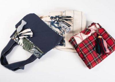Bolsos d tela plegables y fáciles de guardar